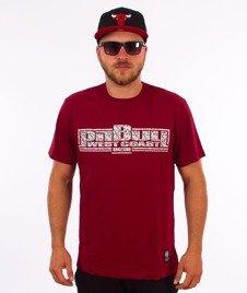 Pit Bull West Coast-Skull Boxing T-Shirt Bordowy