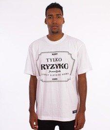 Ryzyko-Razor T-shirt Biały