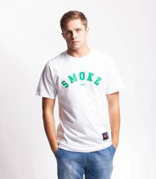 Smoke Story BASEBALL T-Shirt Biały