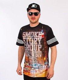 SmokeStory-City Triangle T-Shirt Czarny