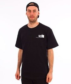 SmokeStory-Front Back Cut Logo T-Shirt Czarny