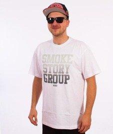 SmokeStory-Gradient T-Shirt Biały