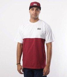 SmokeStory-Half T-Shirt Biały/Bordo