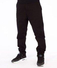 SmokeStory-Jeans Stretch Skinny Guzik Spodnie Czarne