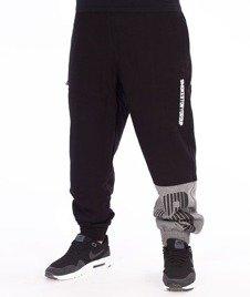 SmokeStory-One Side Lines Jogger Spodnie Dresowe Czarne