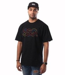 SmokeStory-Outline Colors T-Shirt Czarny
