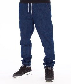 SmokeStory-Straight Fit Guma Spodnie Medium Blue