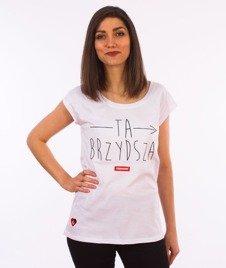 Stoprocent-Brzydsza T-Shirt Damski Biały