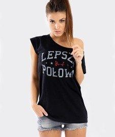 Stoprocent-Lepsza Połowa T-Shirt Damski Czarny