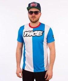 Stoprocent-Nice T-Shirt Biały/Niebieski