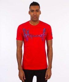 Stoprocent-Stripetag T-Shirt Czerwony