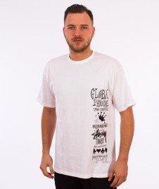 Stussy-Global Gathering T-Shirt Biały