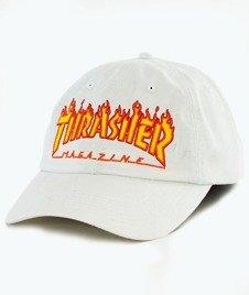 Thrasher-Flame Old Timer Snapback White