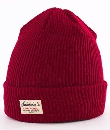Turbokolor-Simple Thread Tag Beanie Burgundy