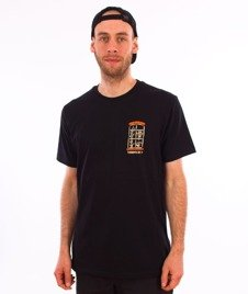 Turbokolor-Simple Thread Window T-Shirt Black