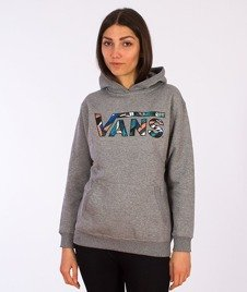 Vans-Classic Pullover Boys/Girls Hoodie Concrete Heather/Stanton Floral