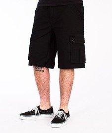 Wrung-Cargo Spodnie Krótkie Czarne